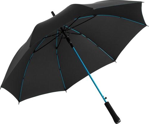 1084 AC regular umbrella Colorline - Black-petrol