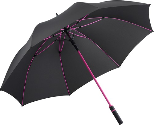 2384 AC golf umbrella FARE®-Style - Black-magenta