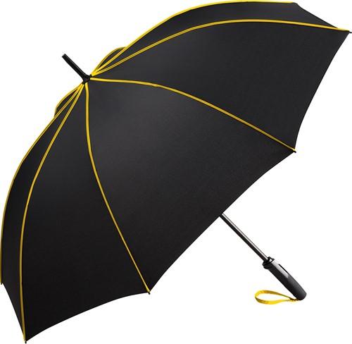 4399 AC midsize umbrella FARE®-Seam - Black-yellow