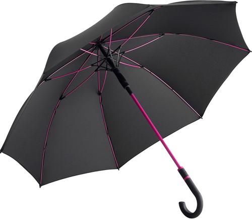 4784 AC midsize umbrella FARE®-Style - Black-magenta