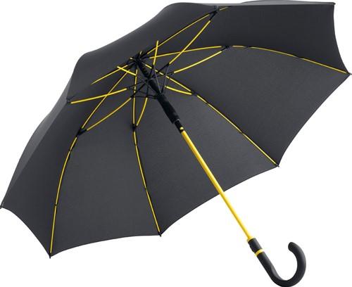4784 AC midsize umbrella FARE®-Style - Black-yellow
