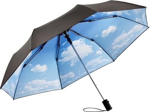 5593 AC mini umbrella FARE®-Nature - Black/cloud-design