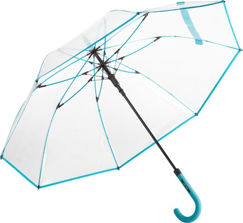 7112 AC regular umbrella FARE®-Pure - Transparent-petrol