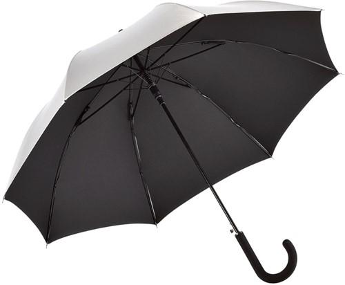 7119 AC regular umbrella FARE®-Collection - Silver/black