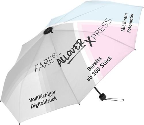 72382 AC golf umbrella FARE®-Allover Xpress - black/FARE design - one size