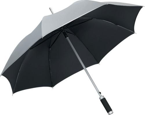 7869 AC alu regular umbrella Windmatic - Silver/black
