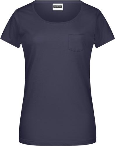 8003 Ladies'-T Pocket - Navy - S