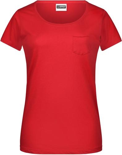 8003 Ladies'-T Pocket - Rood - S