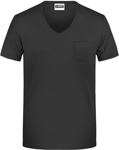 8004 Men's-T Pocket - Zwart - S