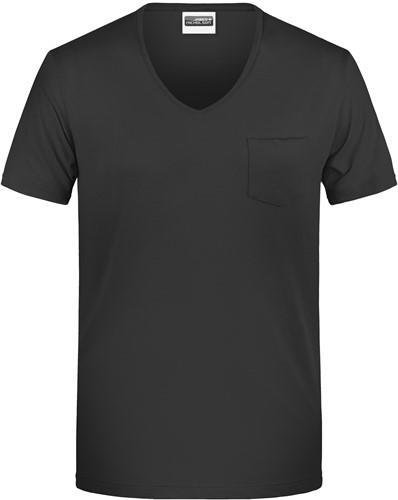 8004 Men's-T Pocket - Zwart - XL