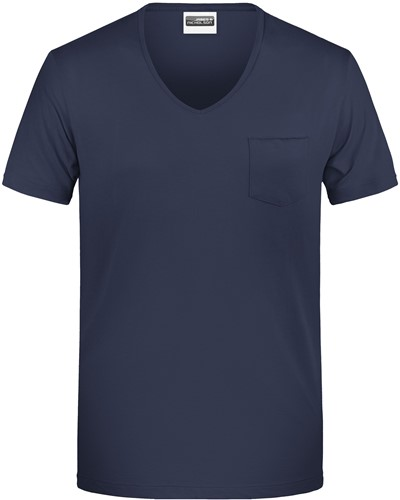 8004 Men's-T Pocket - Navy - S