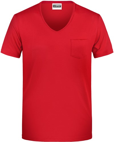 8004 Men's-T Pocket - Rood - XL