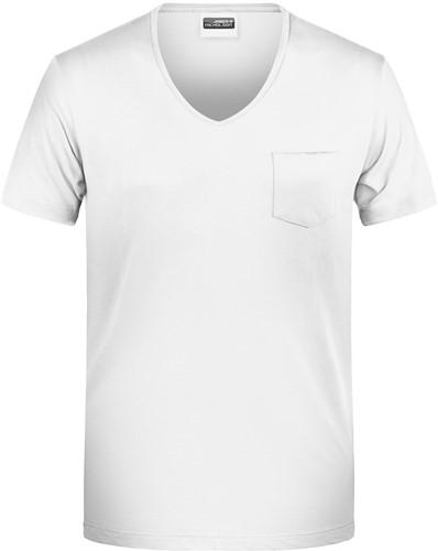 8004 Men's-T Pocket - Wit - XL
