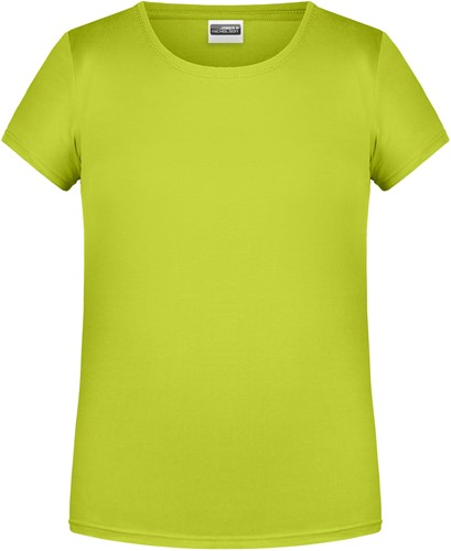 8007G Girls' Basic-T - Chemisch geel - S