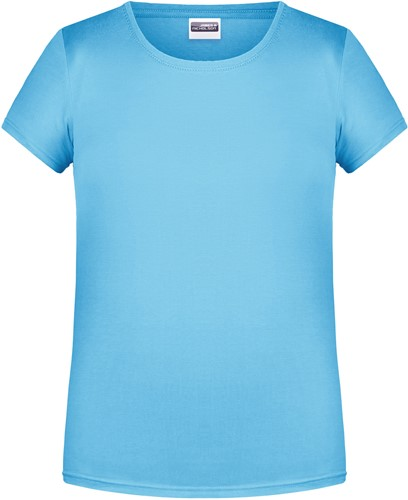 8007G Girls' Basic-T - Hemelsblauw - M
