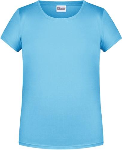 8007G Girls' Basic-T - Hemelsblauw - S