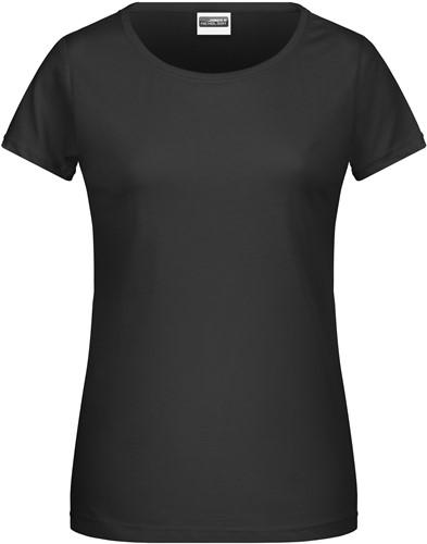 8007 Ladies' Basic-T - Zwart - L