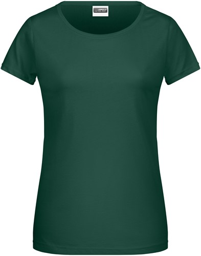 8007 Ladies' Basic-T - Donkergroen - S
