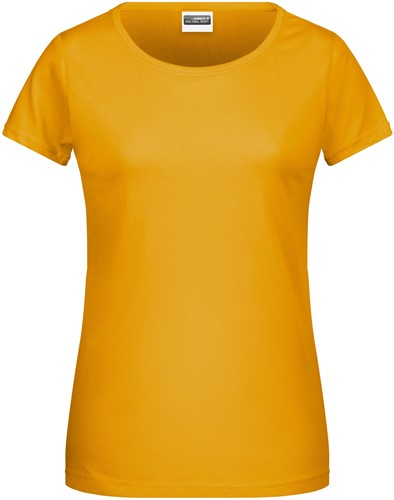 8007 Ladies' Basic-T - Goudgeel - XL