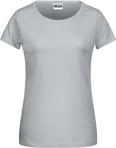 8007 Ladies' Basic-T - Heather-grijs - M