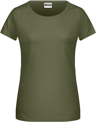8007 Ladies' Basic-T - Olijf - L