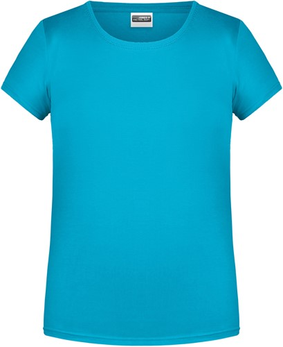 8007 Ladies' Basic-T - Turquoise - XL