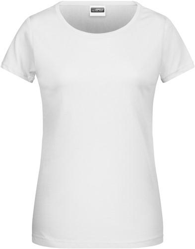 8007 Ladies' Basic-T - Wit - XL