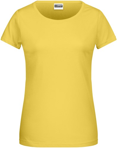 8007 Ladies' Basic-T - Geel - M
