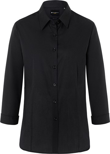 BF 10 Ladies' Blouse Classic with 3/4 Arm - Black - 2xl