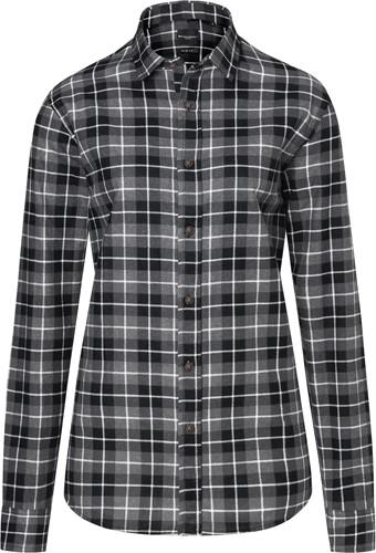 BF 7 Ladies' Checked Blouse Urban-Flair - Black - 2xl