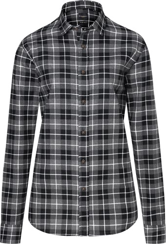 BF 7 Ladies' Checked Blouse Urban-Flair - Black - M