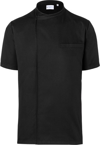 BJM 3 Short-Sleeve Throw-Over Chef Shirt Basic - Black - 4xl