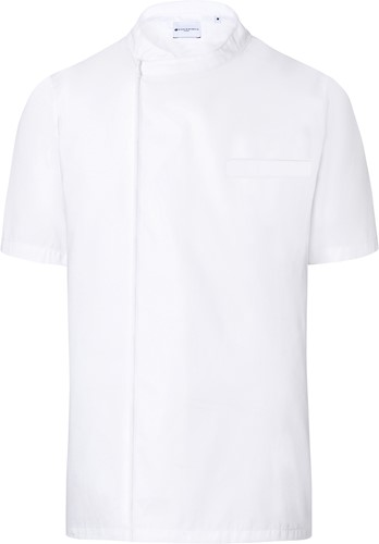 BJM 3 Short-Sleeve Throw-Over Chef Shirt Basic - White - 2xl
