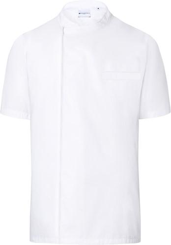 BJM 3 Short-Sleeve Throw-Over Chef Shirt Basic - White - M