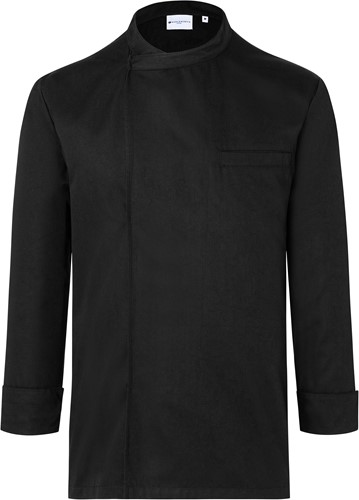 BJM 4 Long-Sleeve Throw-Over Chef Shirt Basic - Black - 4xl