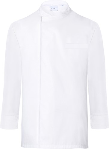 BJM 4 Long-Sleeve Throw-Over Chef Shirt Basic - White - 2xl