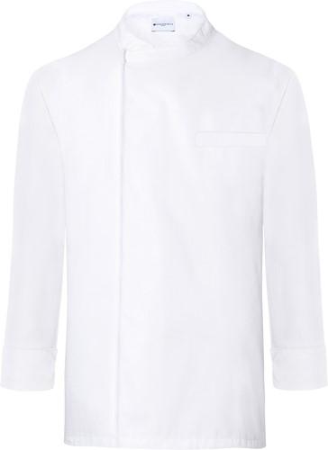 BJM 4 Long-Sleeve Throw-Over Chef Shirt Basic - White - M