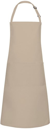 BLS 5 Bib Apron Basic with Buckle and Pocket 75 x 90 cm - Sand - Stck