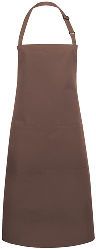 BLS 5 Bib Apron Basic with Buckle and Pocket 75 x 90 cm - Light brown - Stck