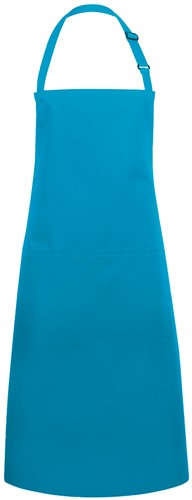 BLS 5 Bib Apron Basic with Buckle and Pocket 75 x 90 cm - Turquoise - Stck