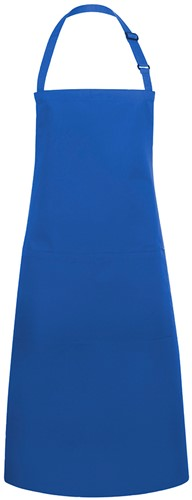 BLS 5 Bib Apron Basic with Buckle and Pocket 75 x 90 cm - Blue - Stck