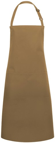 BLS 5 Bib Apron Basic with Buckle and Pocket 75 x 90 cm - Camel - Stck