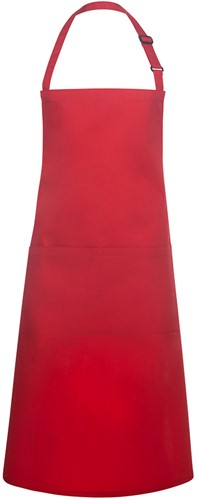 BLS 5 Bib Apron Basic with Buckle and Pocket 75 x 90 cm - Red - Stck