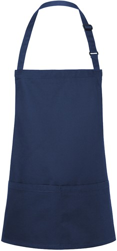 BLS 6 Short Bib Apron Basic with Buckle and Pocket 75 x 60 cm - Navy - Stck