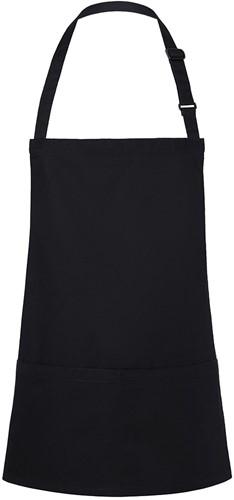 BLS 6 Short Bib Apron Basic with Buckle and Pocket 75 x 60 cm - Black - Stck