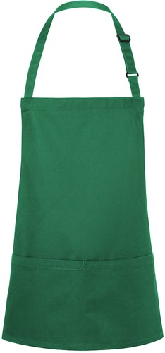 BLS 6 Short Bib Apron Basic with Buckle and Pocket 75 x 60 cm - Forest green - Stck