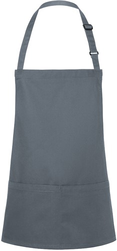 BLS 6 Short Bib Apron Basic with Buckle and Pocket 75 x 60 cm - Anthracite - Stck