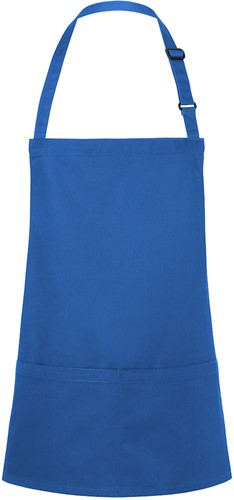 BLS 6 Short Bib Apron Basic with Buckle and Pocket 75 x 60 cm - Blue - Stck