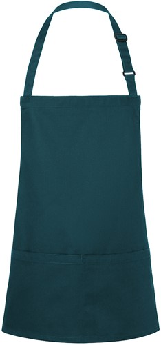 BLS 6 Short Bib Apron Basic with Buckle and Pocket 75 x 60 cm - Pine green - Stck