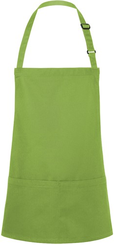 BLS 6 Short Bib Apron Basic with Buckle and Pocket 75 x 60 cm - Lime - Stck